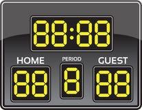 Het scorebord van het honkbal stock illustratie