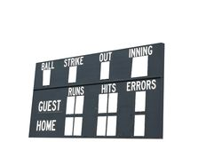 Het Scorebord van het honkbal Royalty-vrije Stock Foto