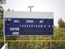 Het Scorebord van het honkbal. Royalty-vrije Stock Afbeeldingen