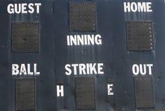 Het Scorebord van het honkbal Stock Afbeelding
