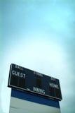 Het scorebord van het honkbal royalty-vrije stock afbeelding