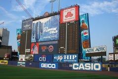 Het Scorebord van het Stadion van de sheaboom Stock Foto