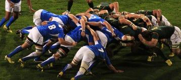 Het Scrum Zuid-Afrika v van het rugby Namibië Royalty-vrije Stock Afbeeldingen
