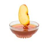 Het segment en de honing van de appel Stock Afbeelding