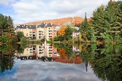 Het Seizoen van de daling in mont-Tremblant, Quebec, Canada stock afbeelding