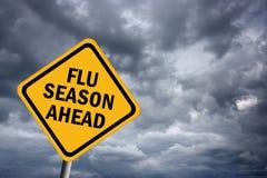 Het seizoen van de griep vooruit Stock Foto