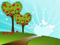 Het seizoen van de liefde vector illustratie