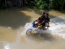 Het seizoen van de moesson in Ayuttaya, Thailand 2011 Stock Afbeelding