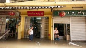 Het seizoen van de moesson in Ayuttaya, Thailand 2011 Royalty-vrije Stock Foto