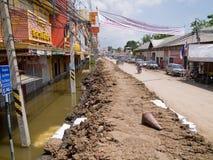 Het seizoen van de moesson in Ayuttaya, Thailand 2011 Stock Afbeeldingen