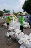 Het seizoen van de moesson in Thailand stock afbeelding