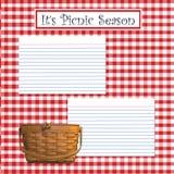 Het Seizoen van de picknick Royalty-vrije Stock Afbeeldingen