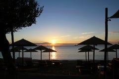 Het seizoen van de zonsopgangherfst - Vrasna, Griekenland Stock Afbeeldingen