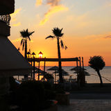 Het seizoen van de zonsopgangherfst - Vrasna, Griekenland Royalty-vrije Stock Foto