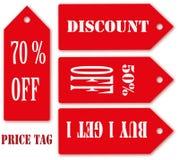 Het Seizoen van het prijskaartje van Verkoop. Royalty-vrije Stock Fotografie