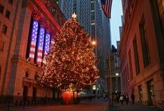 Het Seizoen van Kerstmis in New York Stock Afbeeldingen