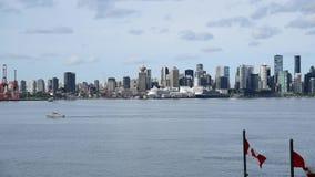 Het seizoen voor cruises in Alaska is achter, en zodat zijn zij ook terug in Vancouver stock videobeelden