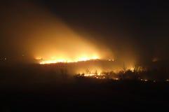 Het seizoengebonden branden van de prairie royalty-vrije stock afbeeldingen