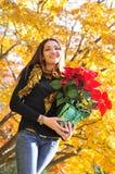 Het seizoengebonden portret van de vrouw Royalty-vrije Stock Foto's