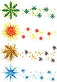 Het seizoensymbolen van de kleur stock illustratie