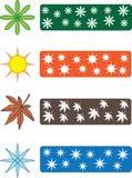 Het seizoensymbolen van de kleur vector illustratie
