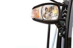 Het semi Detail van de Vrachtwagenkoplamp Stock Fotografie
