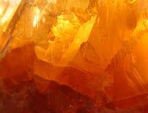Oranje Kristal Royalty-vrije Stock Foto