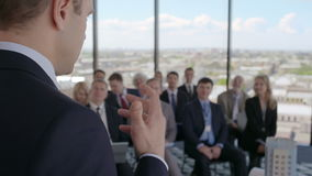 Het seminarie van bedrijfssprekersar