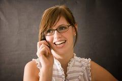 Het sexy Meisje Lucy van het Bureau Stock Afbeeldingen