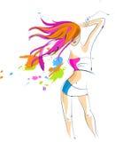 Het sexy meisje van de discopartij - 5 stock illustratie