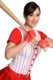Het sexy Meisje van het Honkbal royalty-vrije stock foto