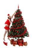 Het sexy meisje van Kerstmis Royalty-vrije Stock Afbeelding