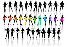 Het sexy VectorPak van Meisjes stock afbeelding