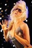 Het sexy vrouw dansen Royalty-vrije Stock Foto's