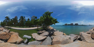 360 het sferische Strand van fotomiami Royalty-vrije Stock Foto