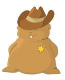 Het sheriff-hoofdkussen Stock Afbeeldingen