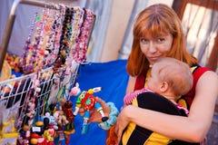 Het shoping van het stuk speelgoed Stock Foto's