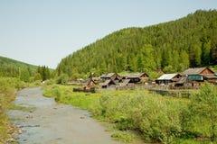 Het Siberische dorp Stock Foto