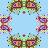 Het sier bloemenpatroon van Paisley Stock Afbeelding