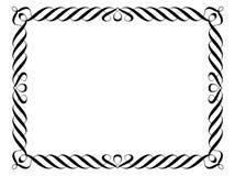 Het sier decoratieve frame van de kalligrafie Stock Fotografie