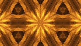 Het sier geometrische caleidoscooplicht toont oranje Nieuwe kwaliteit van het ster de bewegende patroon universele geanimeerd mot stock video