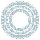Het sier kleurrijke ronde bloemenpatroon van het het behoren tot een bepaald raskant, mozaïek Royalty-vrije Stock Afbeeldingen