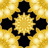 Het sier ronde naadloze patroon van Marokko Oriënteer traditioneel ornament stock illustratie