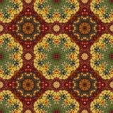 Het sier ronde naadloze patroon van Marokko Oriënteer traditioneel ornament Oosters motief vlak Marokkaanse tegel royalty-vrije illustratie