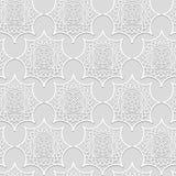 Het siervolume witte pleister vormen Stock Afbeeldingen