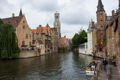 Het sightseeing van boot in Brugge royalty-vrije stock foto