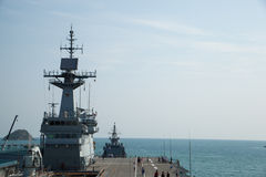 Het signaal op het schip. Royalty-vrije Stock Foto's