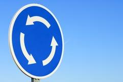 Het signaal van de rotonde stock afbeelding