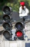 Het signaal van de spoorweg stock afbeelding