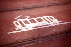 Het signaal van de tram Stock Afbeelding